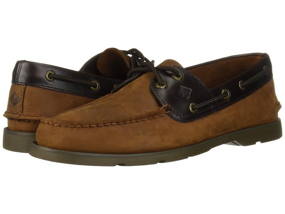 Sperry - Leeward 2 Eye (Brown) Men's Lace Up Moc Toe Shoes