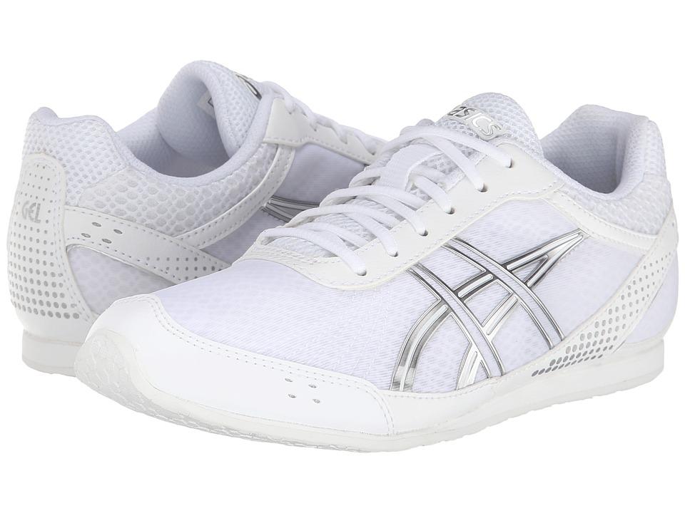 ASICS Kids - Gel-Cheer Ultralyte GS (Little Kid) (White/Silver) Girls Shoes