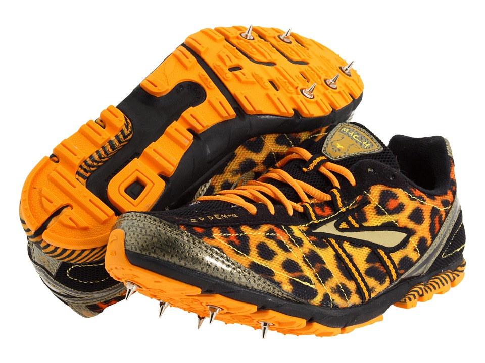 Brooks Mach 13 Spike (Flame Orange/Varsity Maize/Gold/Black) Women