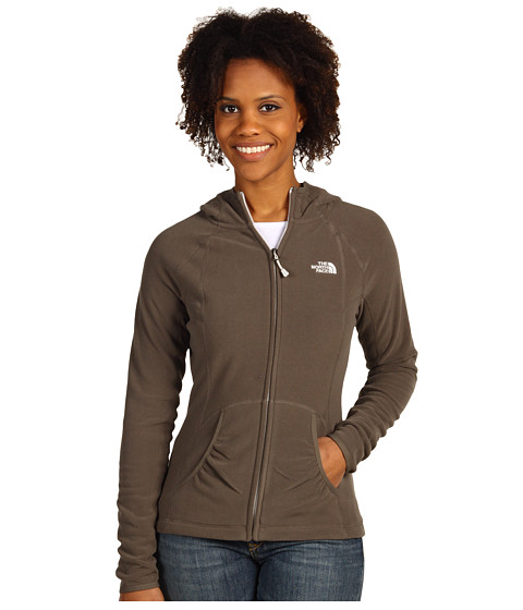 The North Face - TKA 100 Texture Masonic L/S Hoodie (Weimaraner Brown) Women's Jacket