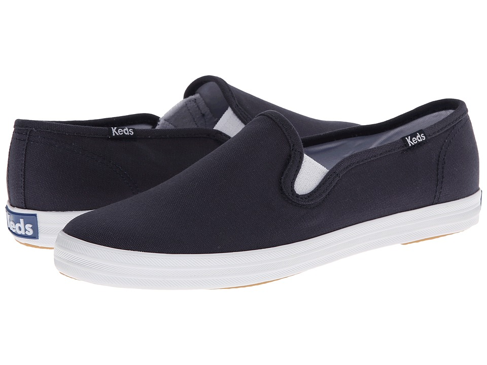 Keds - Champion-Canvas Slip-On (Navy) Women's Slip on  Shoes