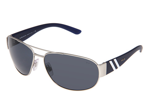 Polo Ralph Lauren - PH3052 (Matte Silver) Fashion Sunglasses