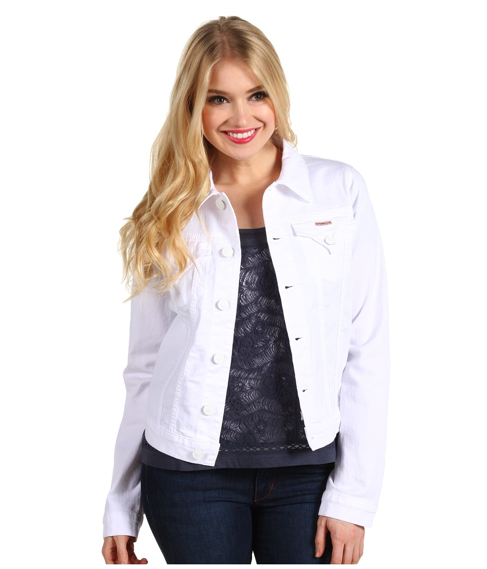 Hudson - Signature Jean Jacket in White (White) Women's Coat