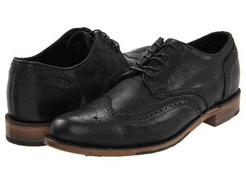 Walk-Over - Langdon New Brogue (Black Harness) Men's Lace Up Wing Tip Shoes