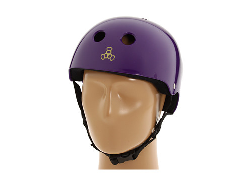 Triple Eight - Brainsaver Multi-Impact Helmet w/ Sweatsaver Liner (Purple Glossy) Skateboard Helmet