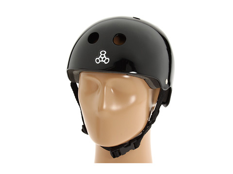 Triple Eight - Brainsaver Multi-Impact Helmet w/ Standard Liner (Black Gloss) Athletic Sports Equipment