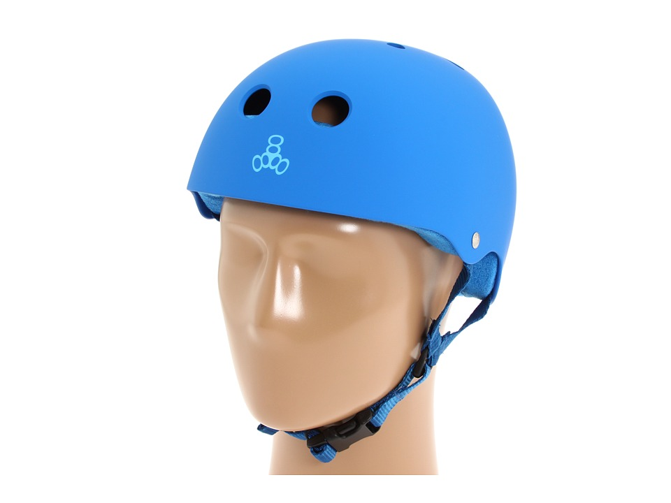 Triple Eight - Brainsaver Multi-Impact Helmet w/ Sweatsaver Liner (Royal Blue Rubber) Skateboard Helmet