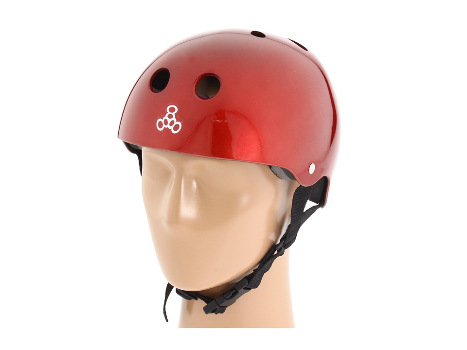 Triple Eight - Brainsaver Multi-Impact Helmet w/ Standard Liner (Red Metallic) Athletic Sports Equipment