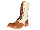 Vintage Shoe Company - Molly Jump Boot (Tobacco/White Canvas) - Footwear