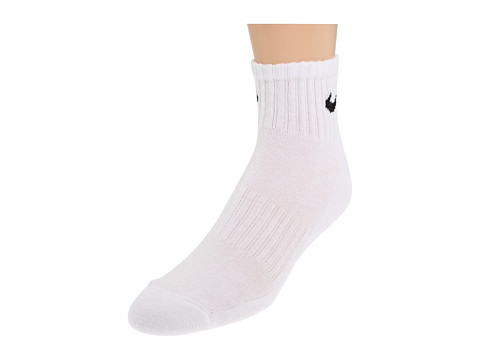 Nike - Band Cotton Quarter 6-Pair Pack (White/(Black)) Quarter Length Socks Shoes