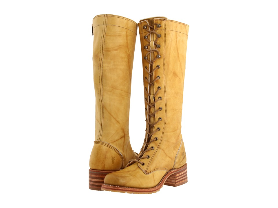 Frye - Campus Lug Lace (Banana) Women's Lace-up Boots
