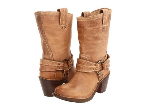Frye - Carmen Harness Short (Sand) Cowboy Boots