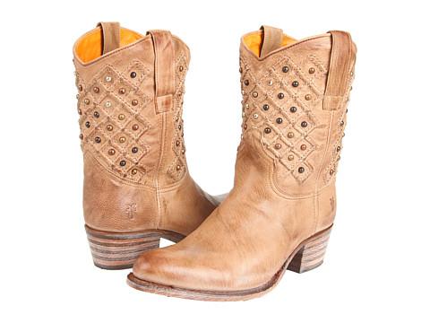 Frye - Deborah Pin Tuck (Sand) Cowboy Boots