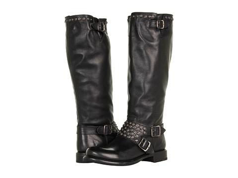 Frye - Jenna Studded Tall (Black) Cowboy Boots