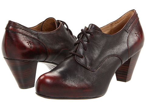 Frye - Lois Oxford (Dark Brown Brush Off) High Heels