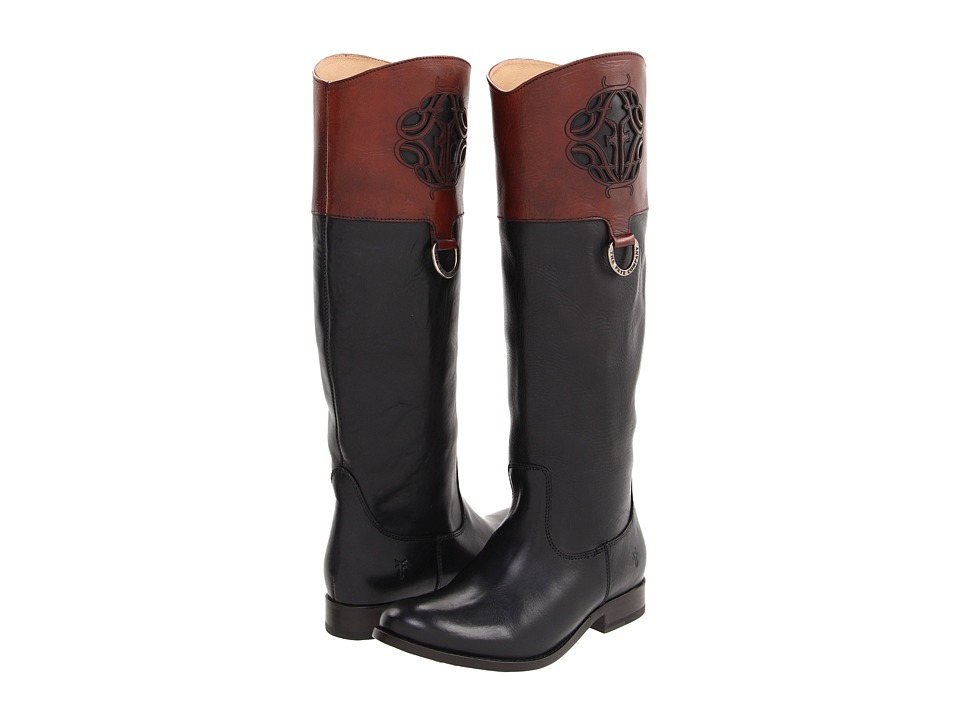 Frye - Melissa Logo (Black Multi Smooth Full Grain) Women's Boots