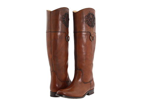Frye - Melissa Logo (Saddle Smooth Full Grain) Women's Boots