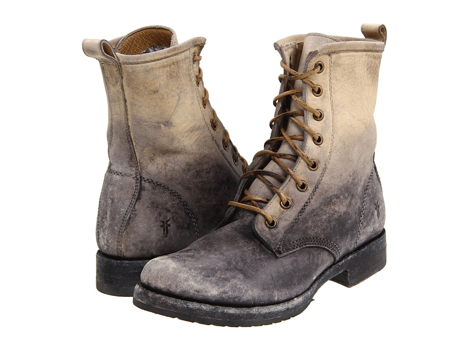 Frye - Veronica Combat (Stone Stone Wash) Women's Lace-up Boots