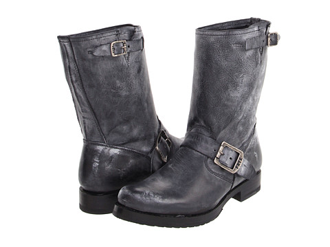 Frye - Veronica Shortie (Black Burnished Antiques Leather) Cowboy Boots