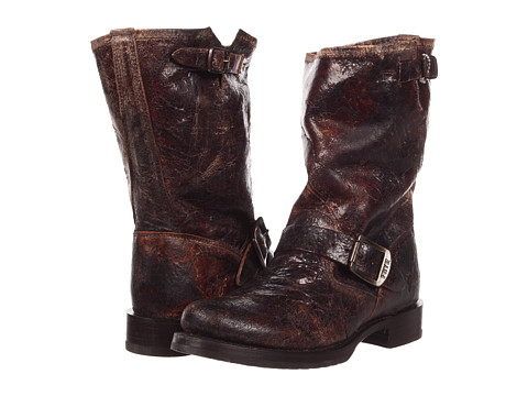Frye - Veronica Shortie (Chocolate Vintage Leather) Cowboy Boots