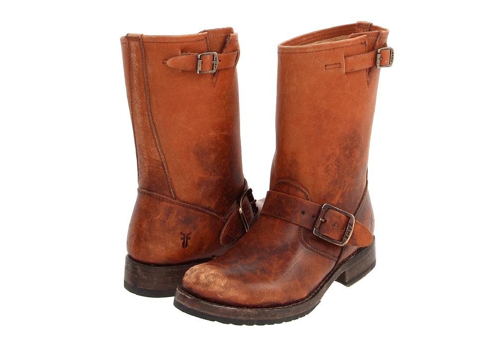 Frye Veronica Shortie Cognac Stone Wash Cowboy Boots