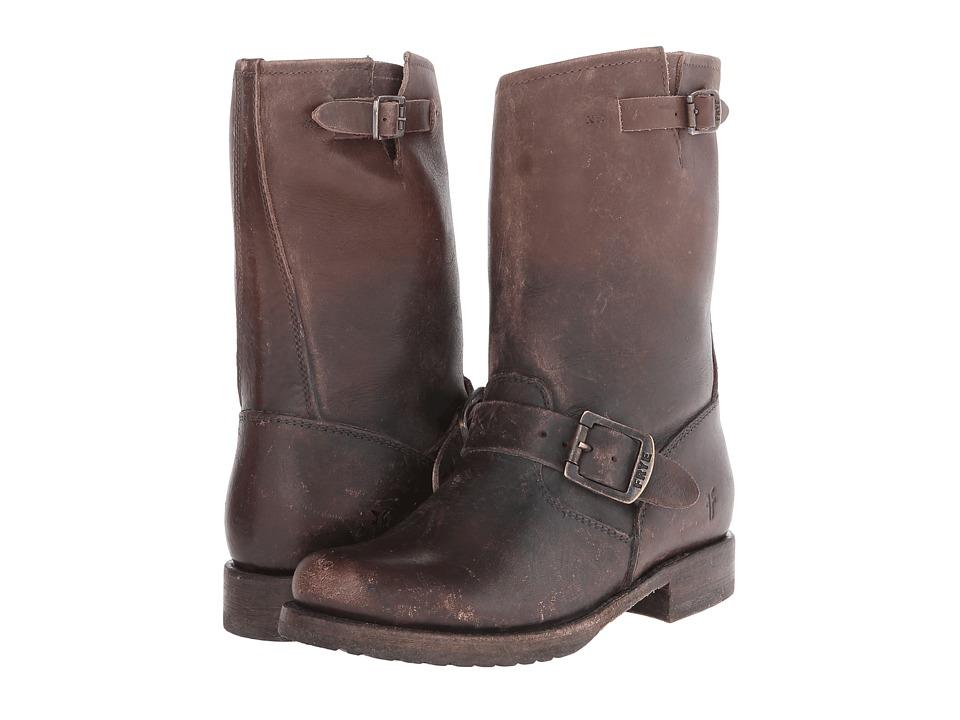 Frye - Veronica Shortie (Dark Brown Stone Wash) Cowboy Boots