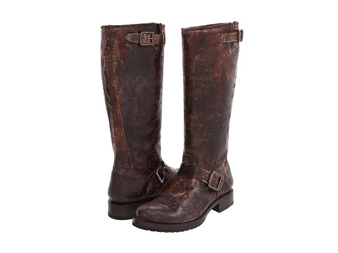 Frye - Veronica Slouch (Chocolate Vintage Leather) Women's Pull-on Boots