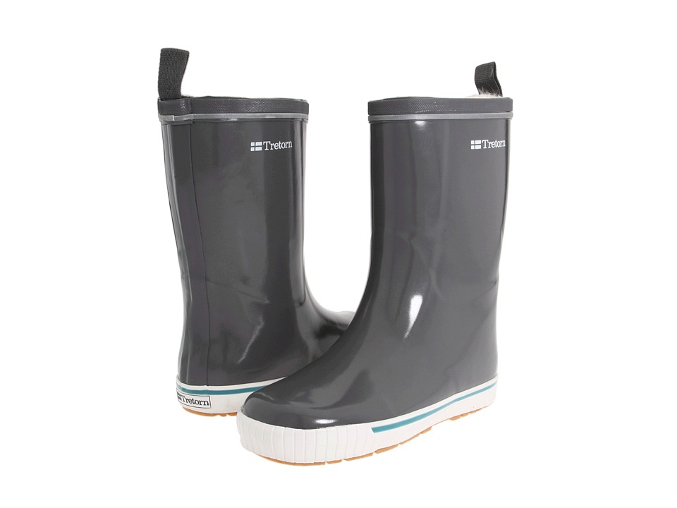 Tretorn - Skerry Metallic Rain Boot (Glossy Charcoal Gray) Rain Boots