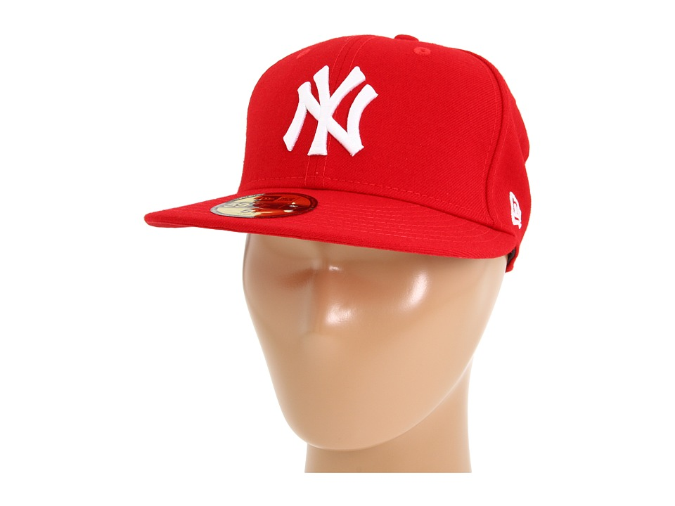 New Era - 59FIFTY New York Yankees (Scarlet/White) Caps