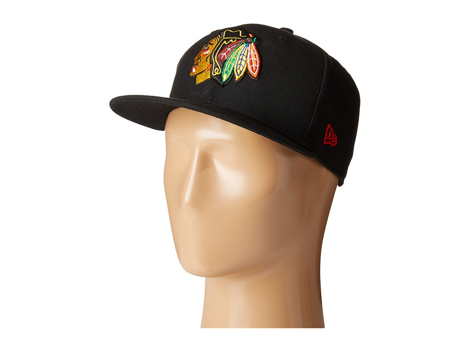 New Era - 59FIFTY(r) Chicago Blackhawks (Black) Caps
