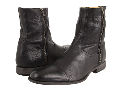 Frye - Harvey Outside Zip (Black) Men's Boots