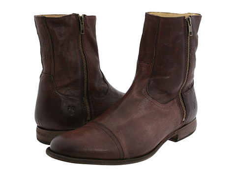 Frye - Harvey Outside Zip (Dark Brown) Men