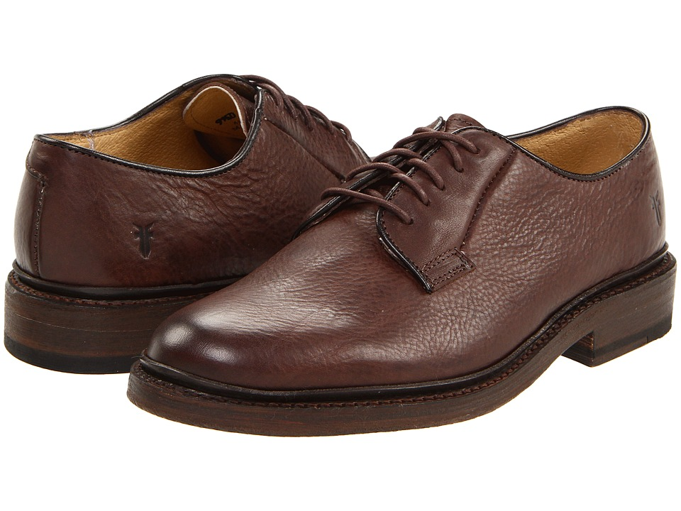 Frye James Oxford (Dark Brown Pebbled Full Grain) Men