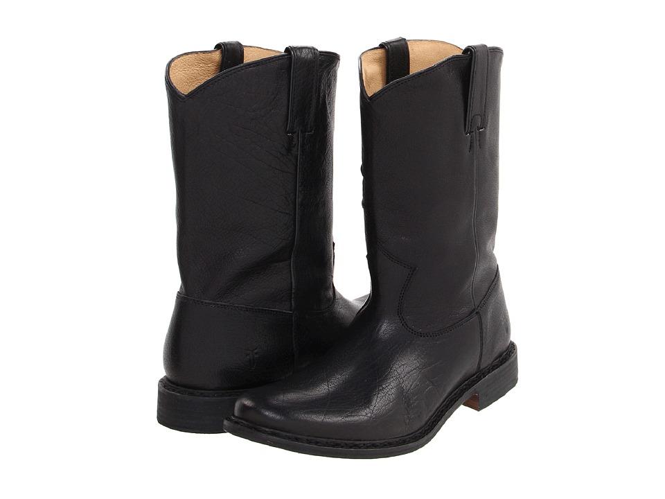 Frye - Marco Roper (Black Oiled Antique Soft Full Grain) Cowboy Boots