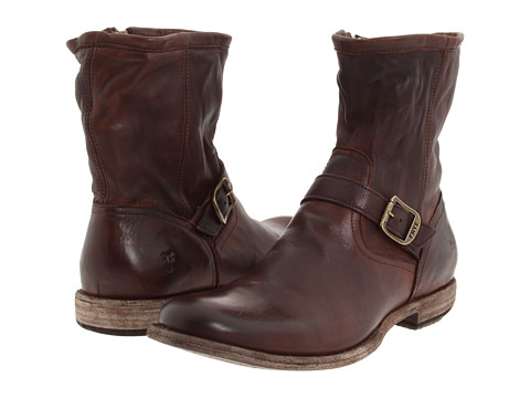 Frye - Phillip Inside Zip (Dark Brown) Men