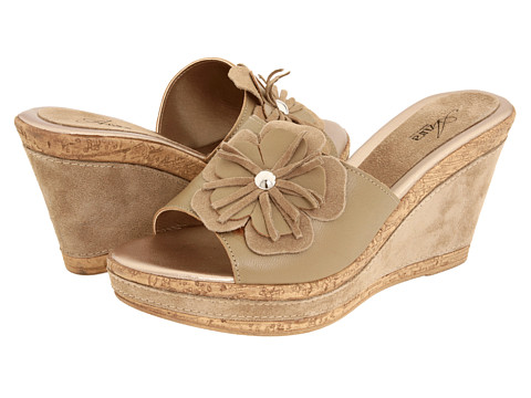 Spring Step - Narcisse (Beige Leather) Women's Wedge Shoes