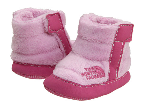 The North Face Kids - NSE Fleece Bootie (Infant/Toddler) (Pink Lady/Ruffle Pink) Girls Shoes