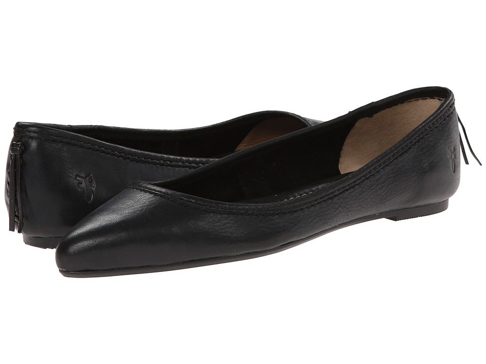 Frye - Regina Ballet (Black) Women's Slip on Shoes
