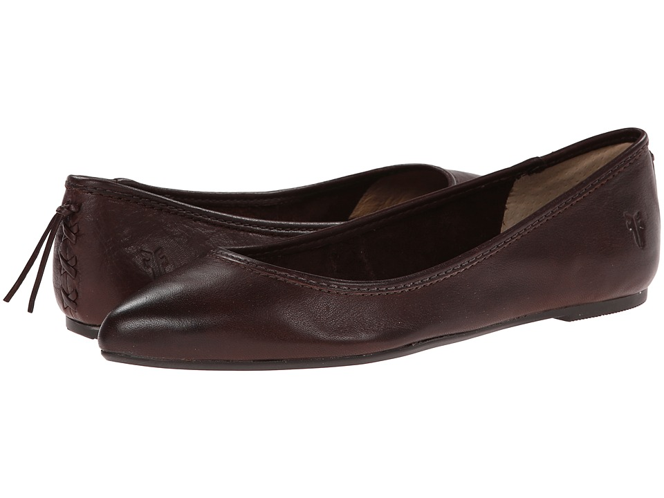 Frye - Regina Ballet (Dark Brown) Women's Slip on Shoes