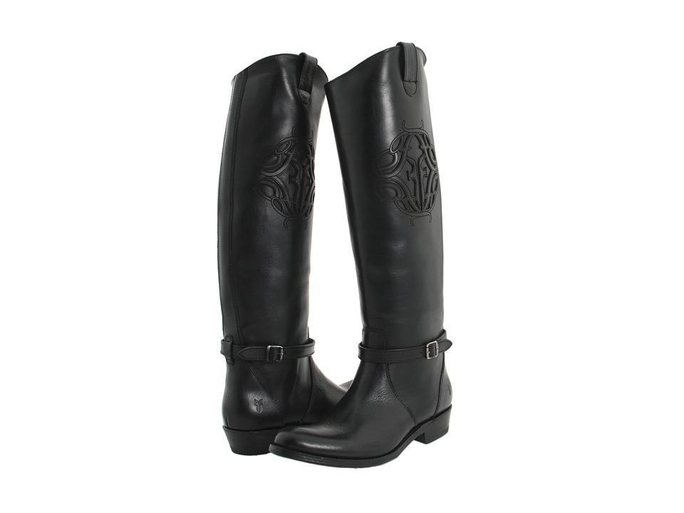 Frye - Rider Logo (Black) Cowboy Boots