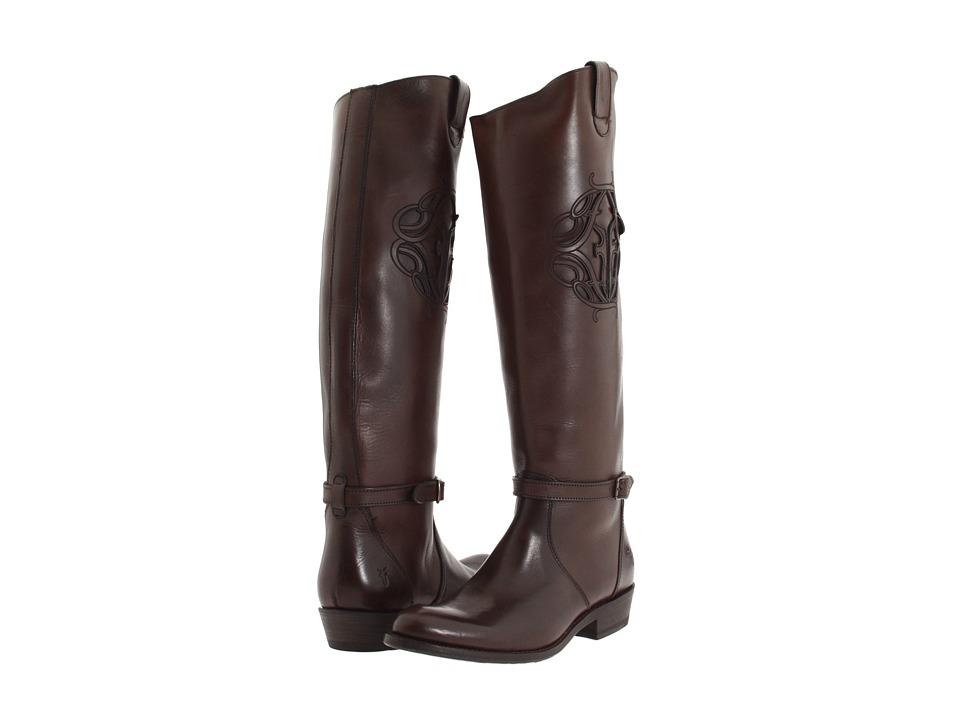 Frye - Rider Logo (Dark Brown) Cowboy Boots