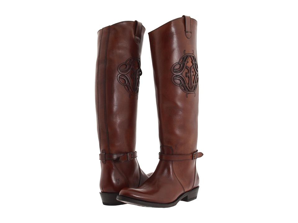 Frye - Rider Logo (Redwood) Cowboy Boots