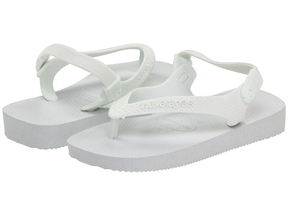 Havaianas Kids - Top Flip Flops (Toddler) (White) Girl