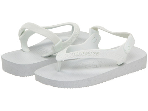 Havaianas Kids - Top Flip Flops (Toddler) (White) Girl's Shoes