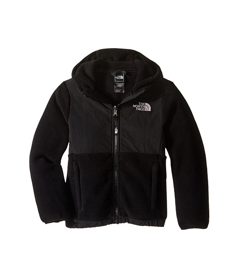 The North Face Kids - Recycled Denali Hoodie (Little Kids/Big Kids) (R TNF Black/TNF Black) Girl's Coat