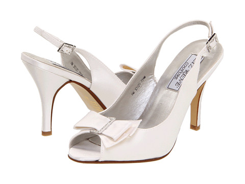 Touch Ups - Claudine (White Silk Satin) Women's Bridal Shoes