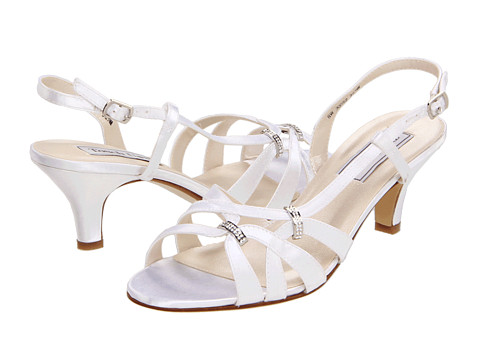 Touch Ups - Donetta (White Satin) Women's Sling Back Shoes
