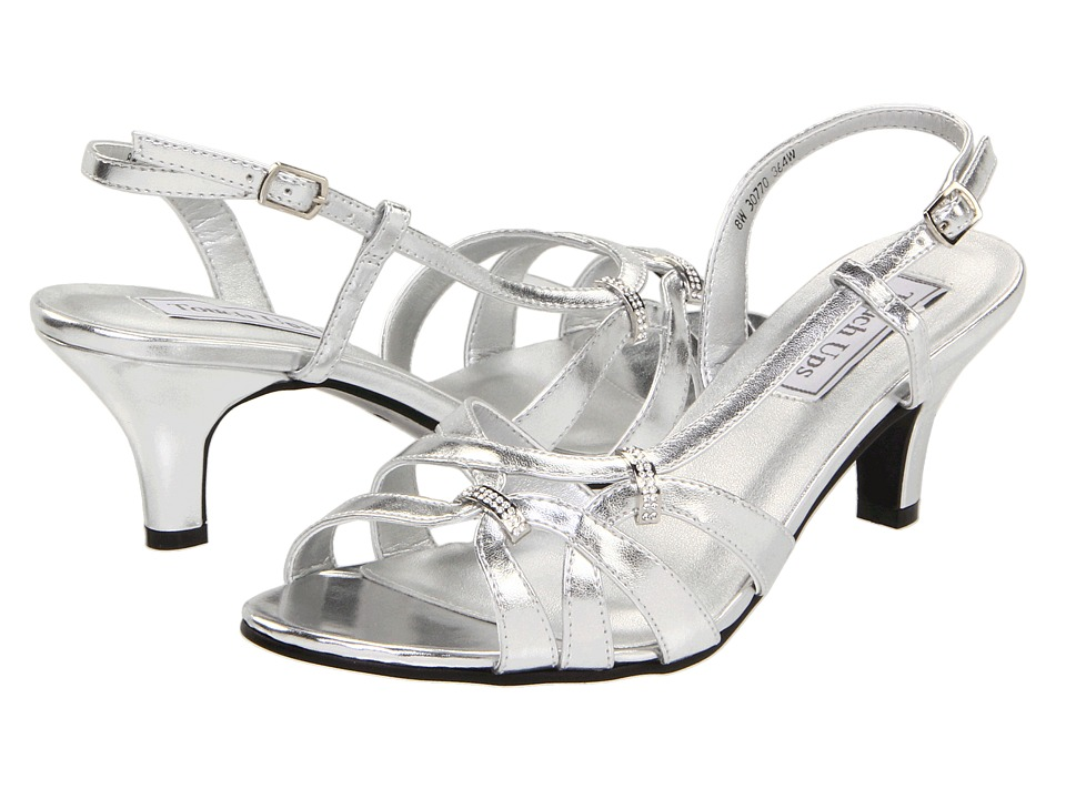 Touch Ups - Donetta (Silver Metallic) Women's Sling Back Shoes