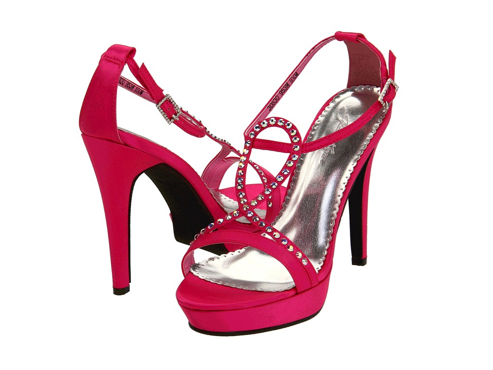 Touch Ups - Monroe (Hot Pink Silk) High Heels