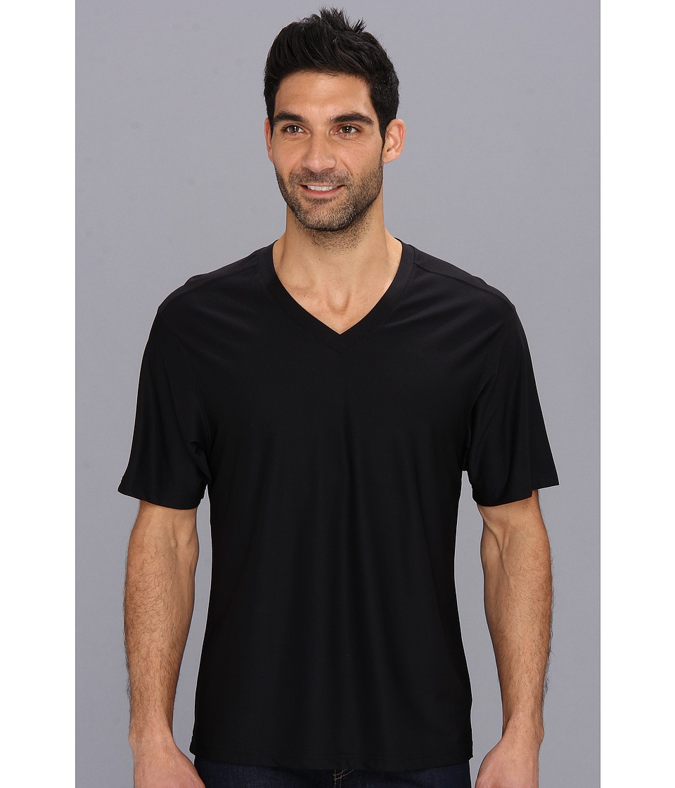 ExOfficio - Give-N-Go V-Neck Tee (Black) Men's T Shirt